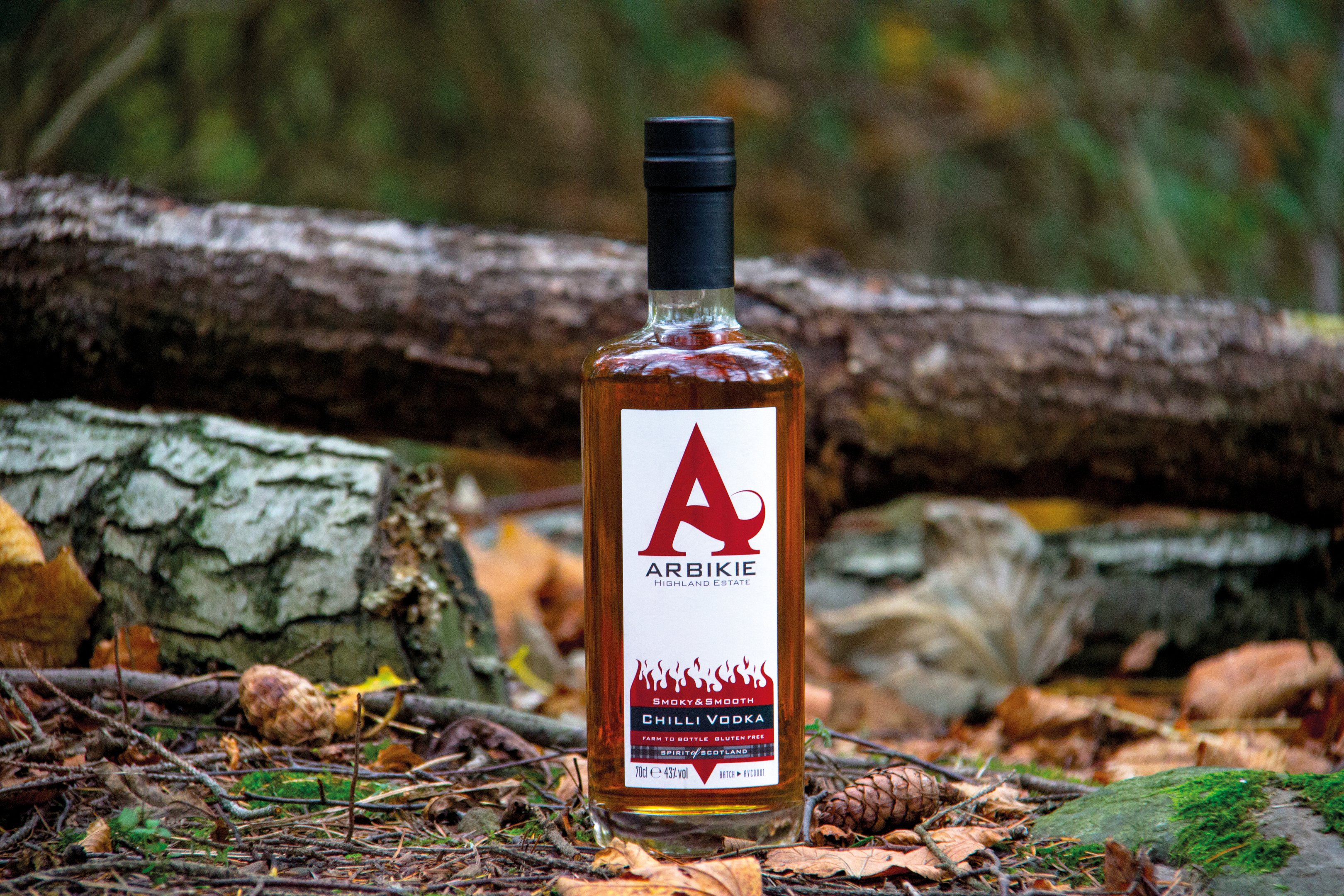 Chilli flavoured vodka from Arbikie distillery