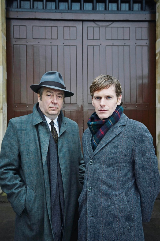 Shaun Evans as Endeavour and Roger as DI Fred Thursday. (ITV/ Mammoth Screen)