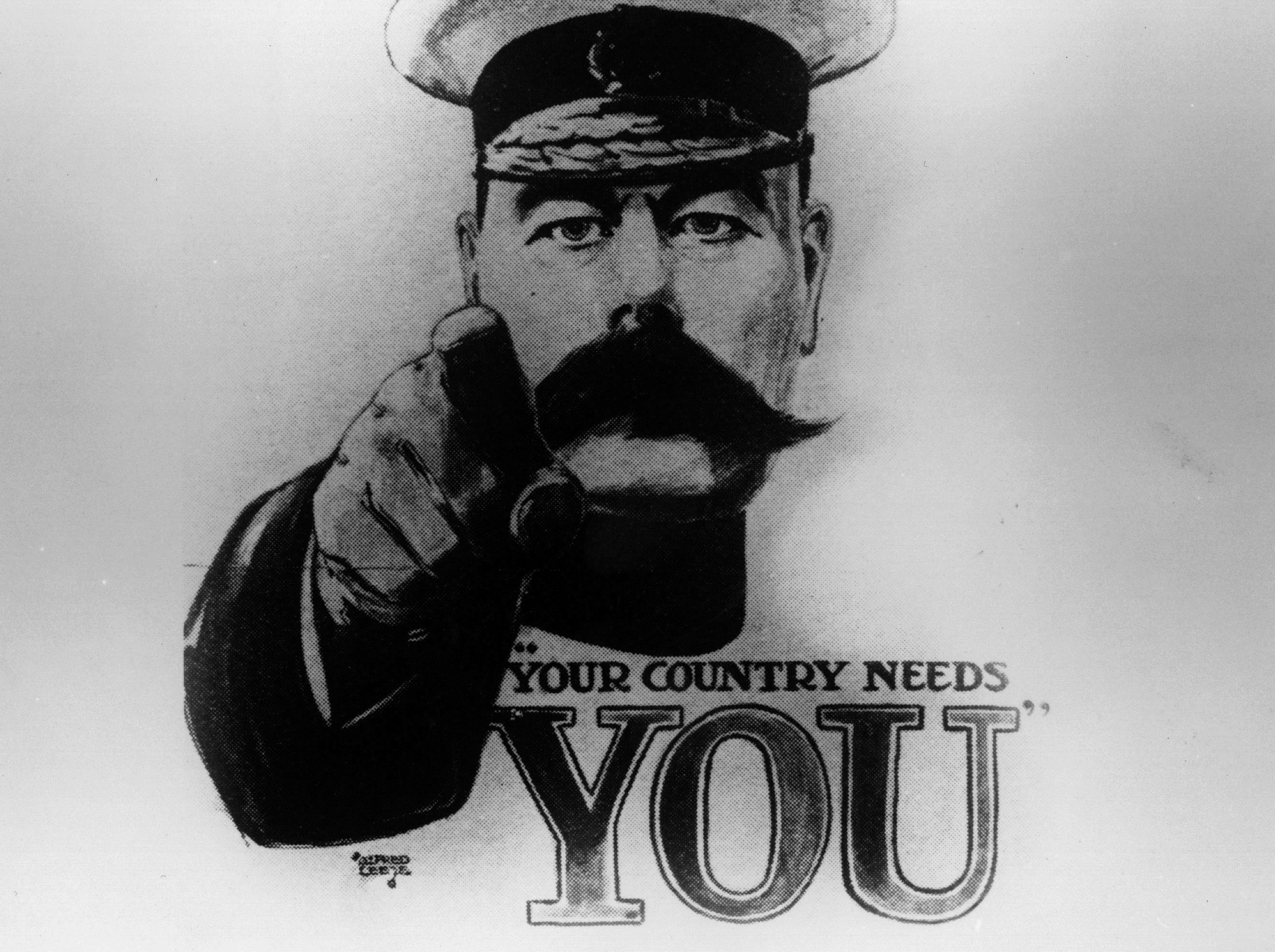The famous Lord Kitchener poster