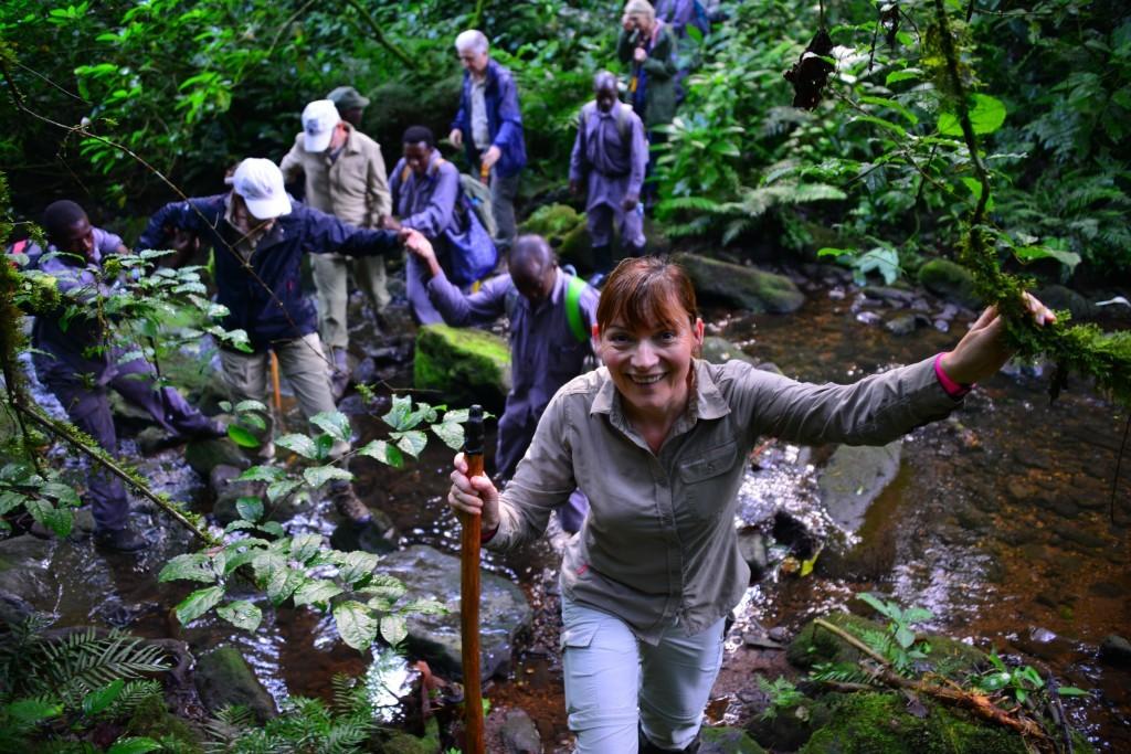 Lorraine on a trek (Steve Smith)