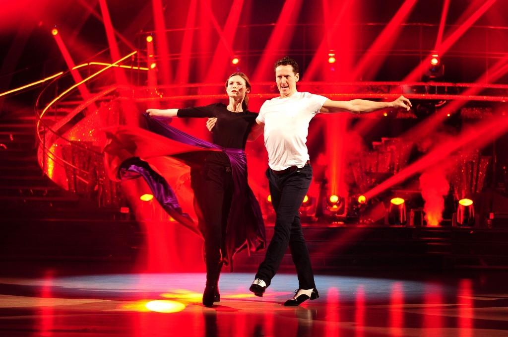 Brendan with Sophie Ellis Bextor on Strictly (BBC)