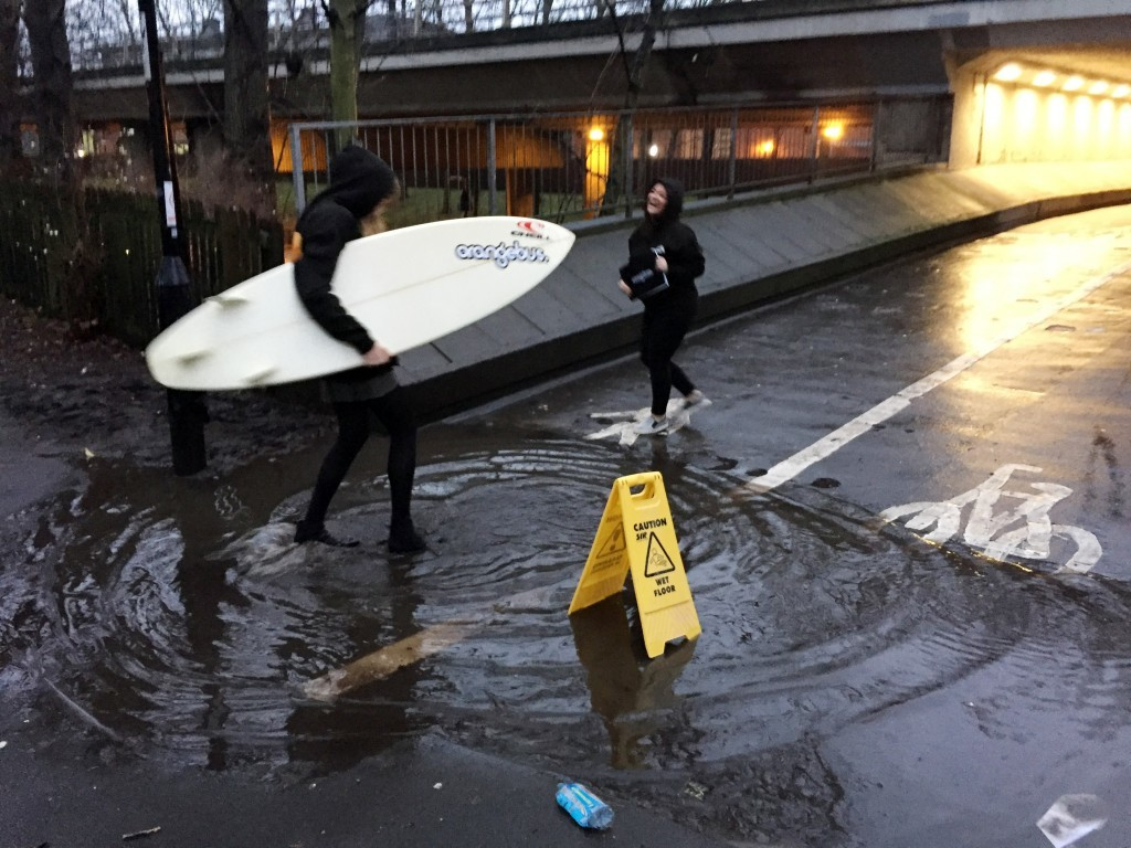 Surfs up (Tom White/PA Wire)