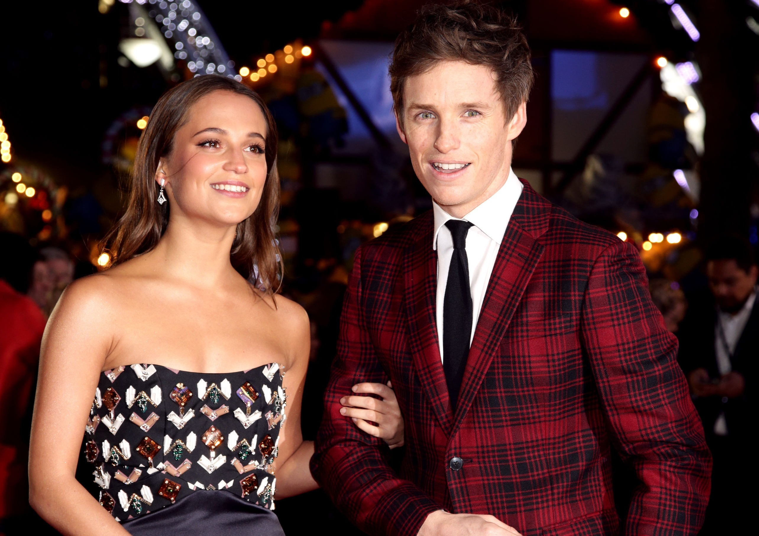 Alicia Vikander and Eddie Redmayne attending the premiere of the Danish Girl (Yui Mok/PA Wire)