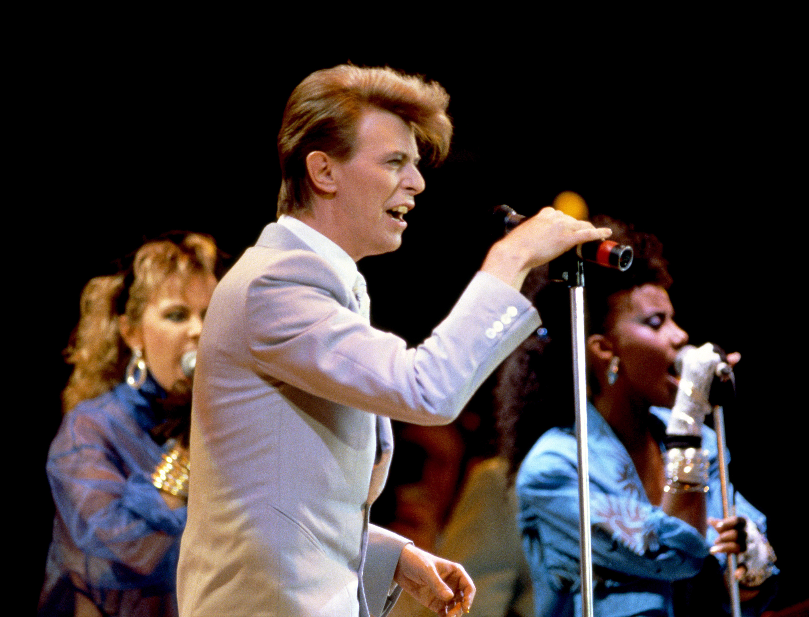 David Bowie performing at Live Aid, 1985 (PA Archive)