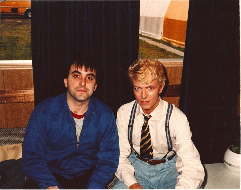 Billy Sloan with Bowie 1983