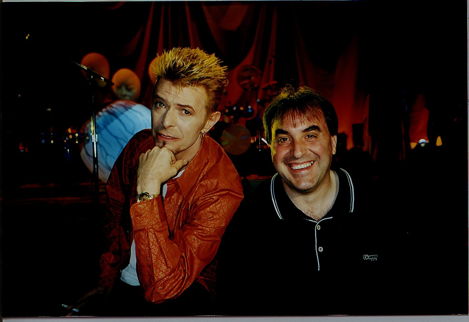 David Bowie with Billy Sloan 1997