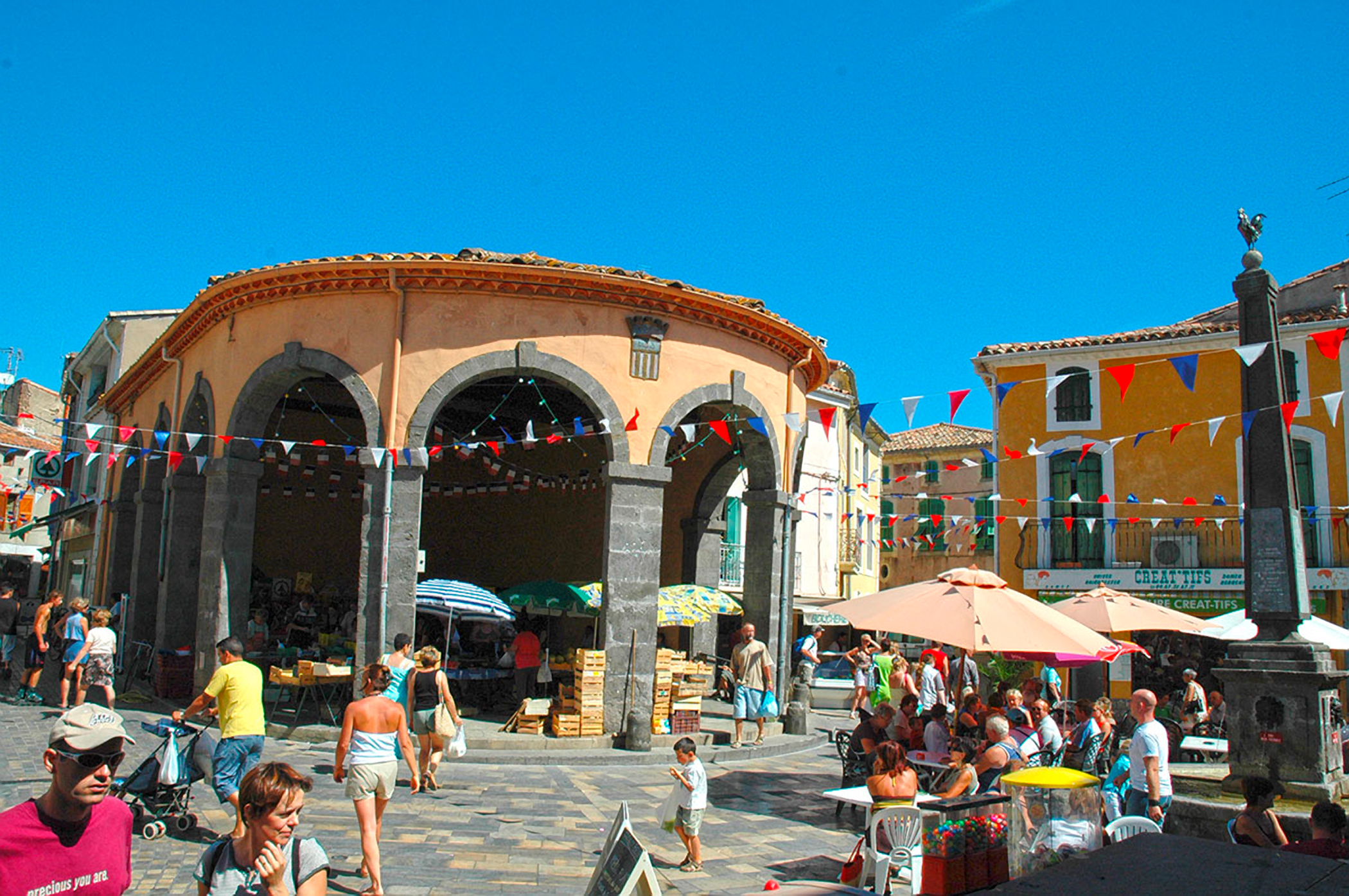 The pretty, old town of Vias in southern France is a real tourist's treat.