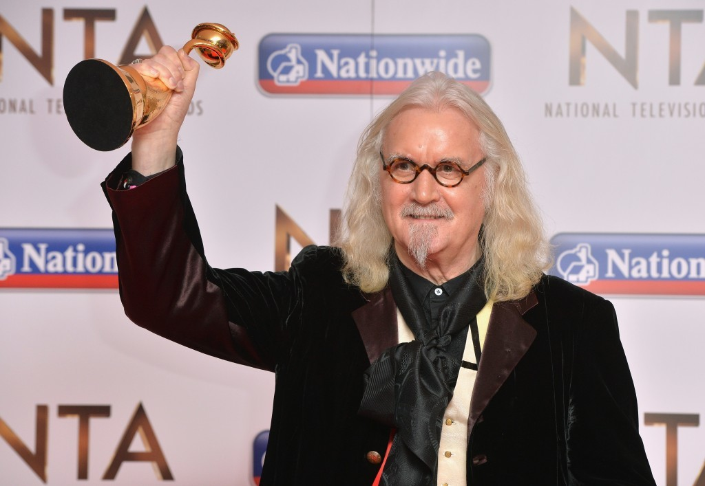 Billy Connolly with his Award for Special Recognition (Anthony Harvey/Getty Images)