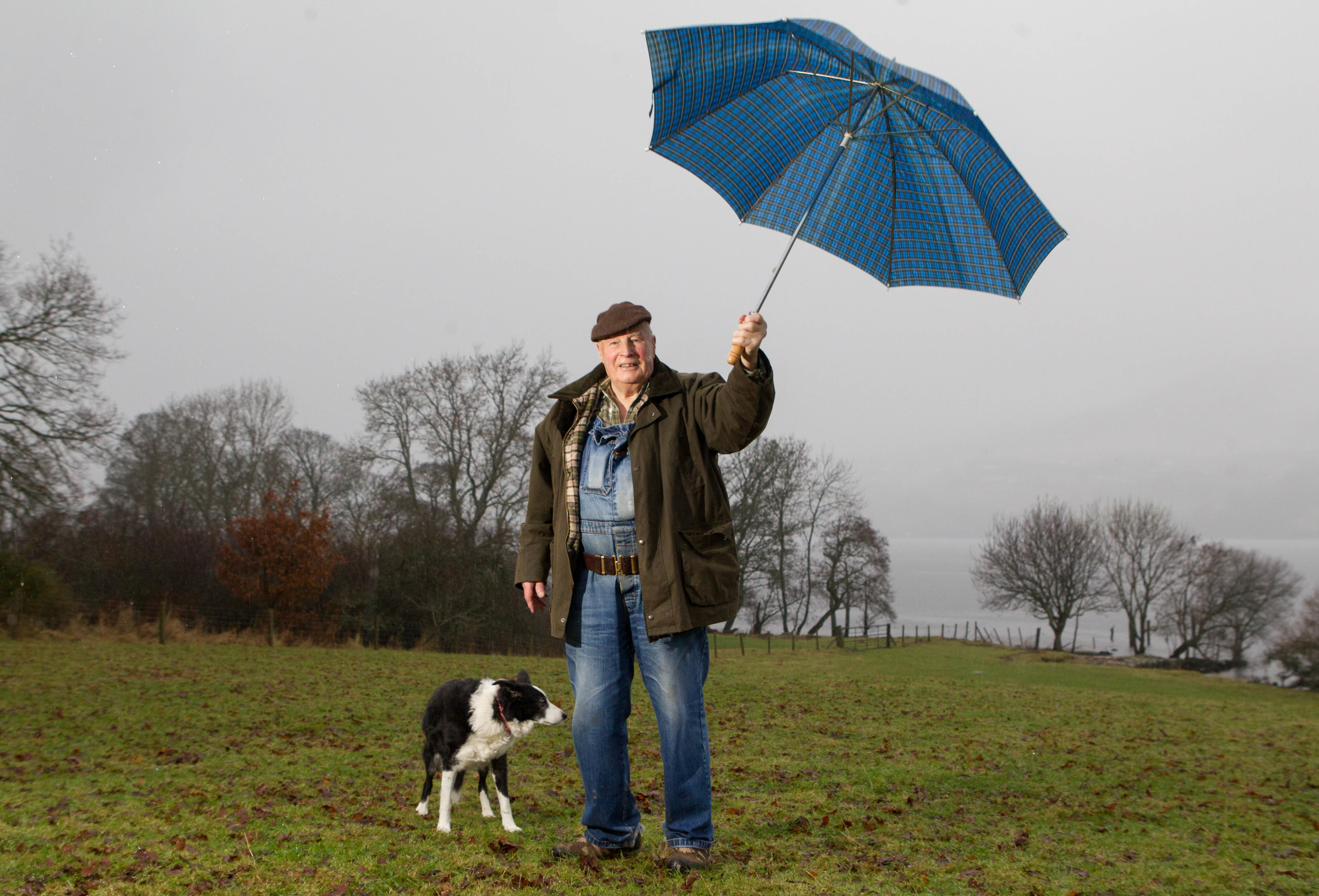 Mervyn Browne collects weather details for The Met office (Chris Austin / DC Thomson)