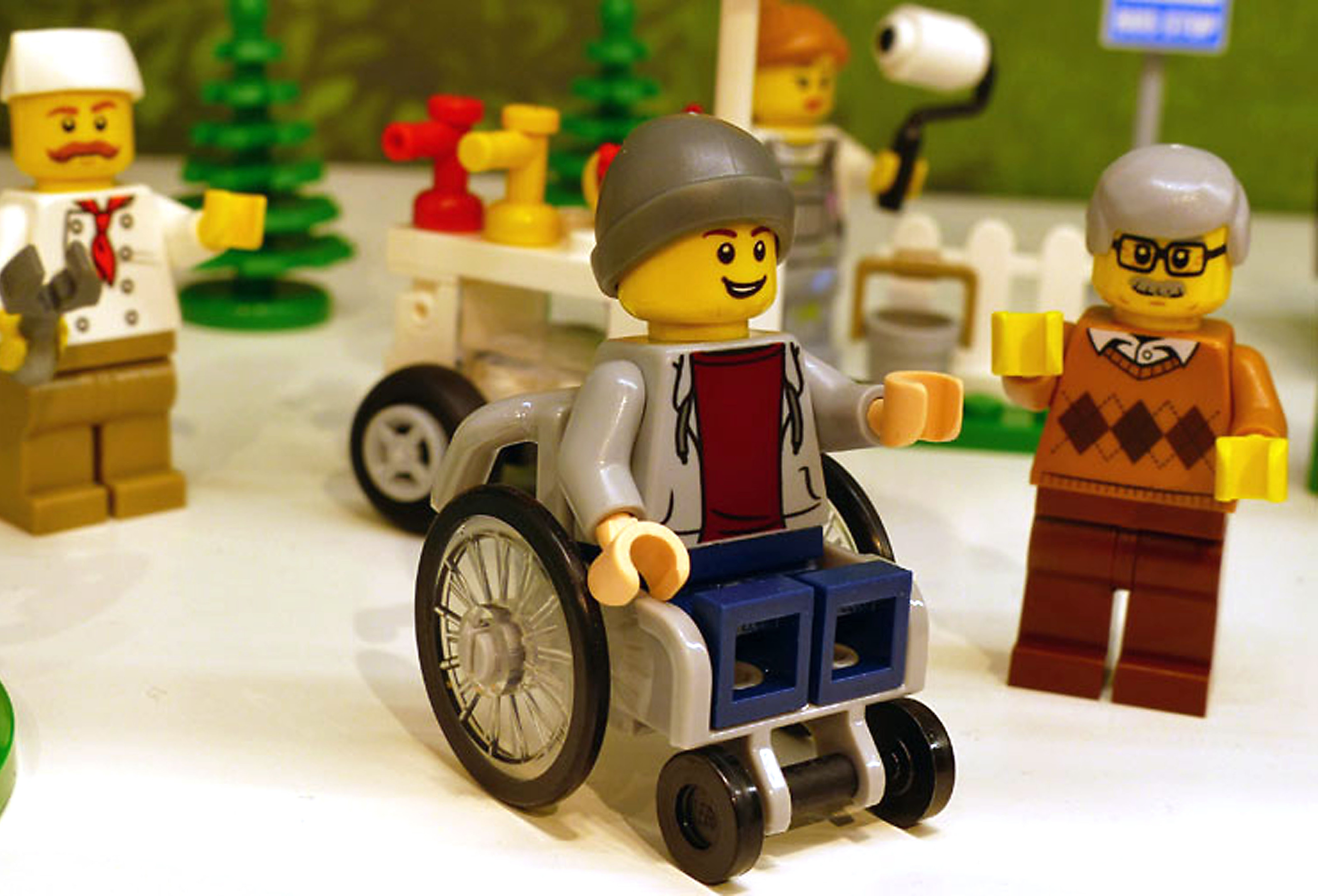 The first Lego disabled mini-figure (promobricks/PA Wire)
