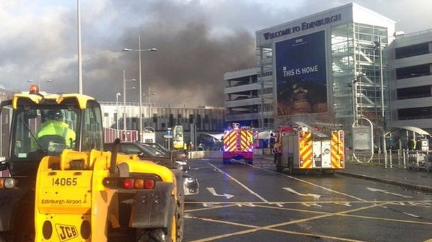 Edinburgh airport fire