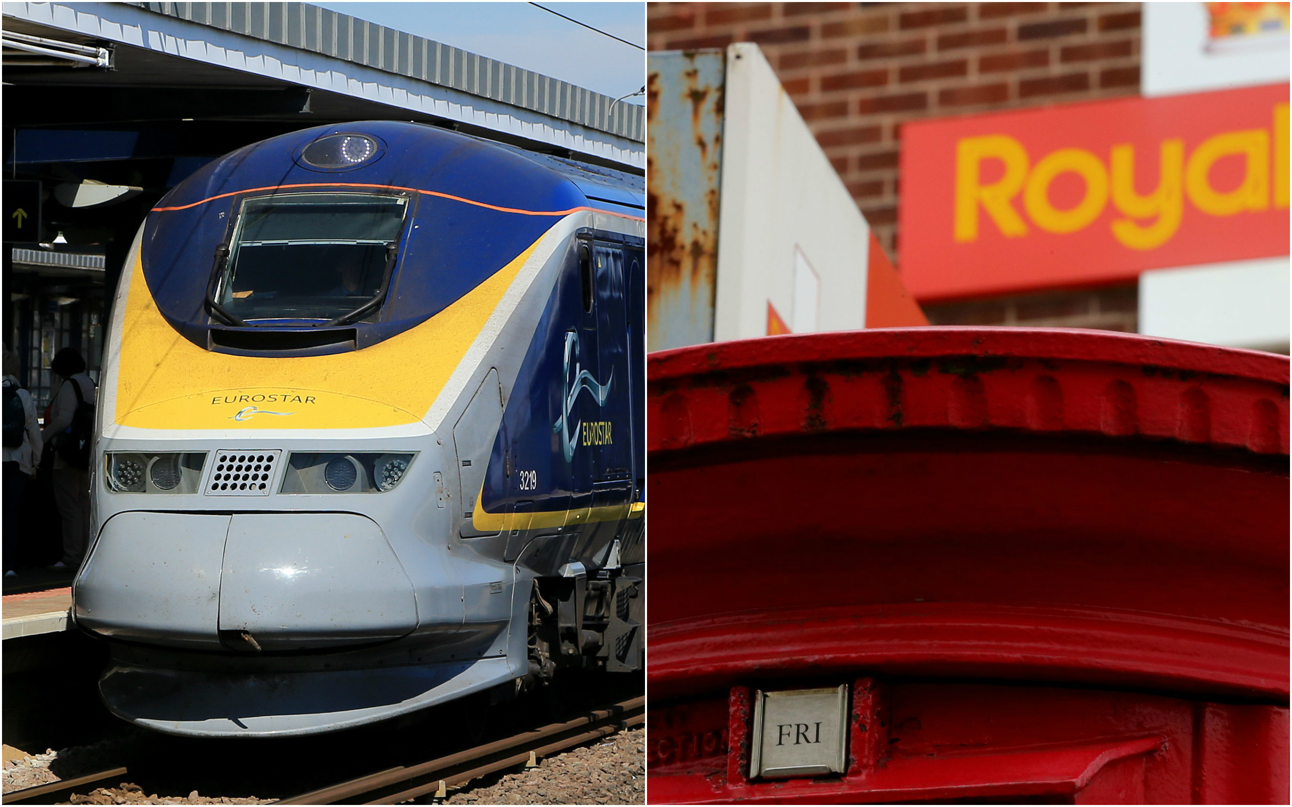 Stakes in Eurostar and Royal Mail were sold off (PA Wire)