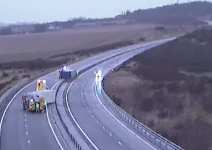 The scene on the A1 this morning (Traffic Scotland)
