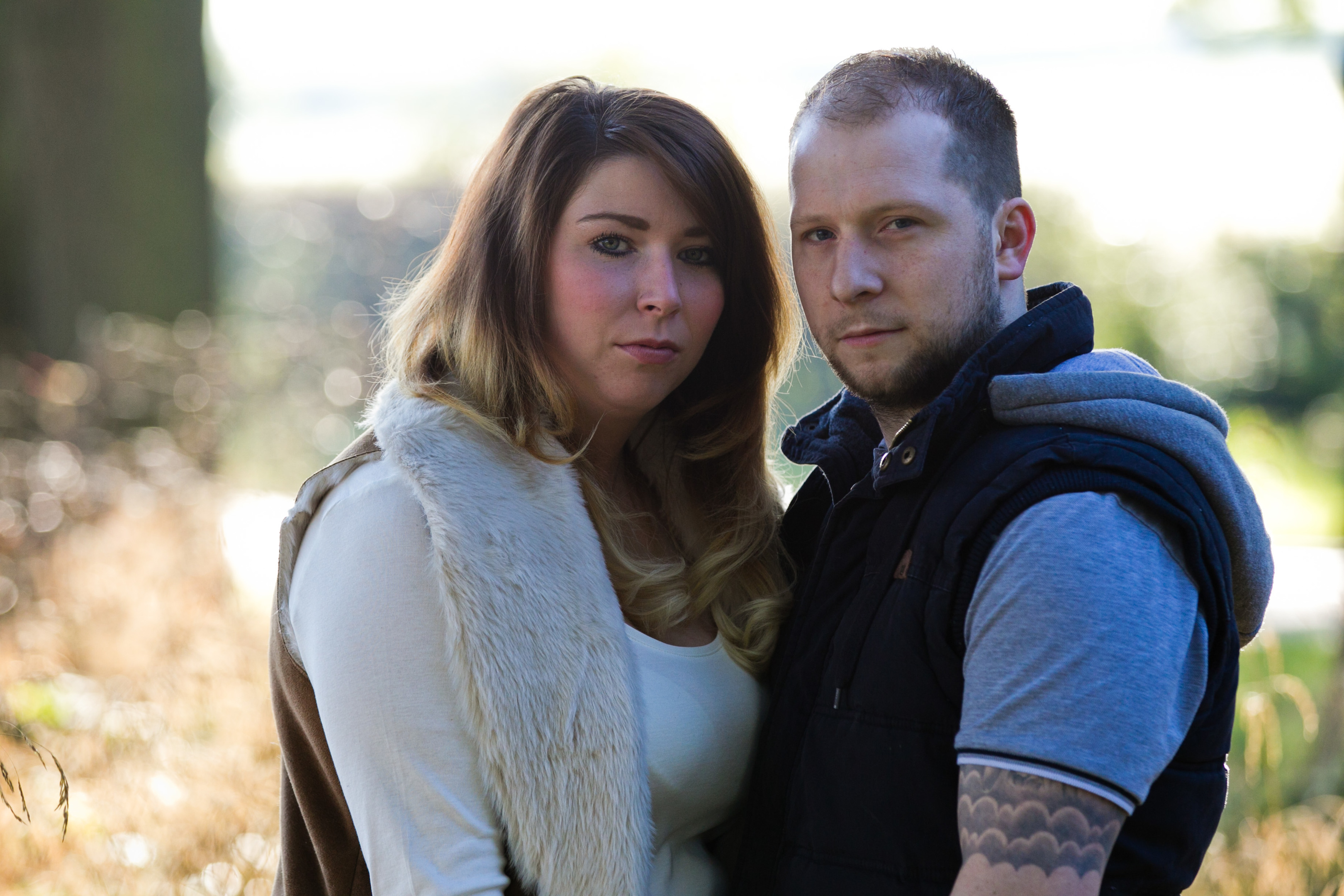 Daughter Sarah Dawson and her fiancé Mark (Andrew Cawley/ Sunday Post)