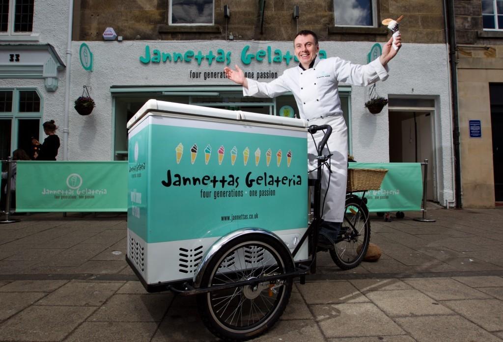 Owen on his ice cream bike.
