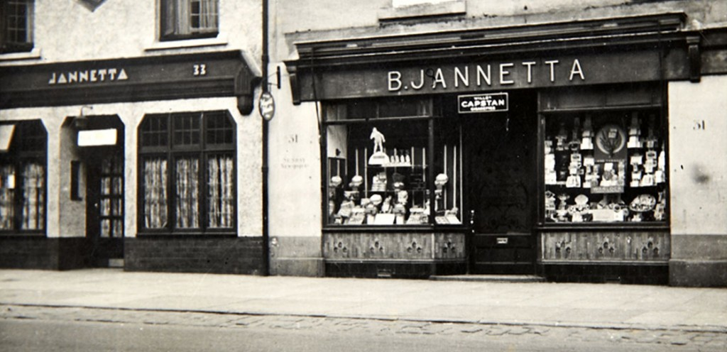 The shop front in the 1940s