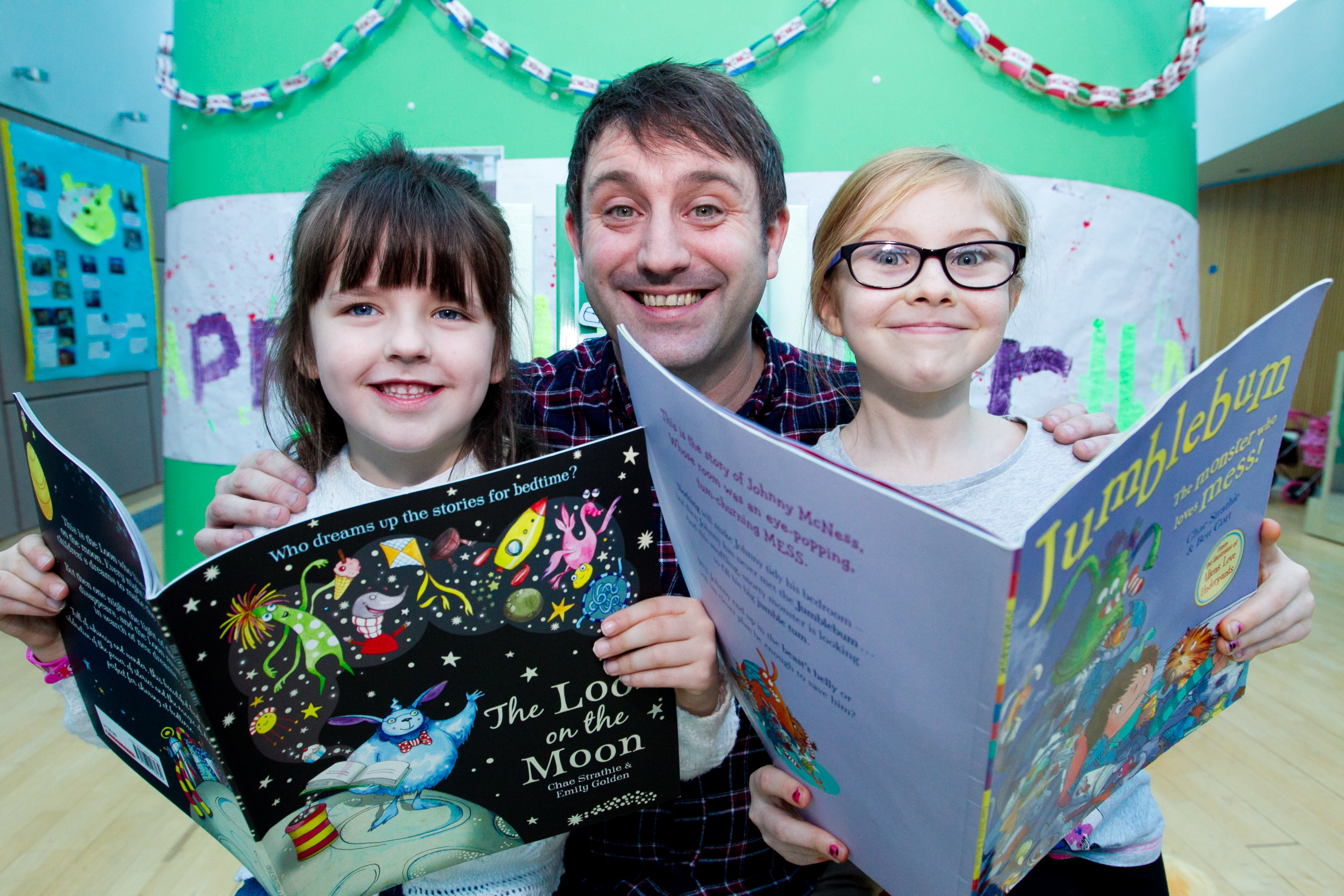 Chae with Holly and Olivia at Robin House (Andrew Cawley / DC Thomson)