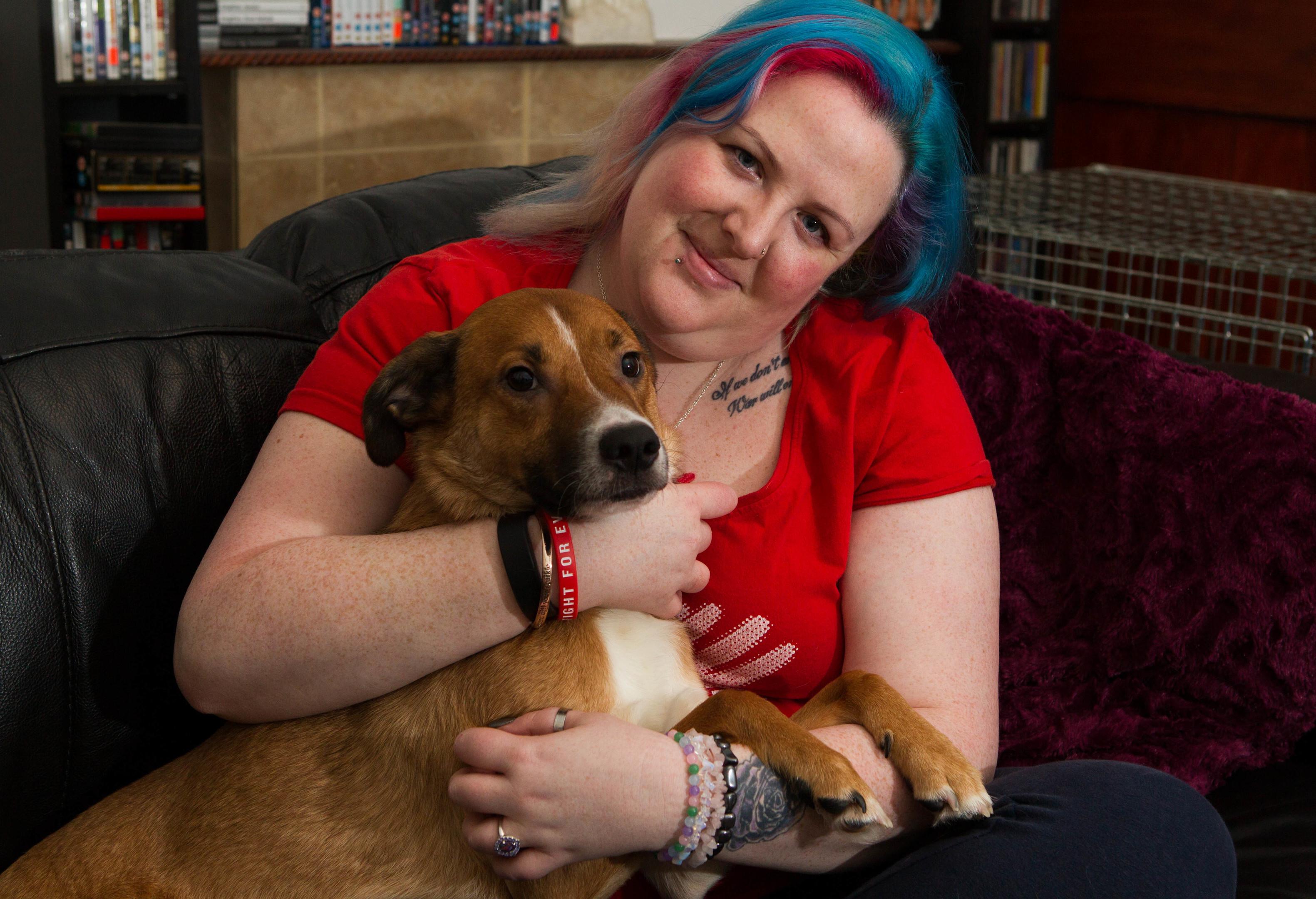 Pamela Spence and her dog Beau (Chris Austin / DC Thomson)