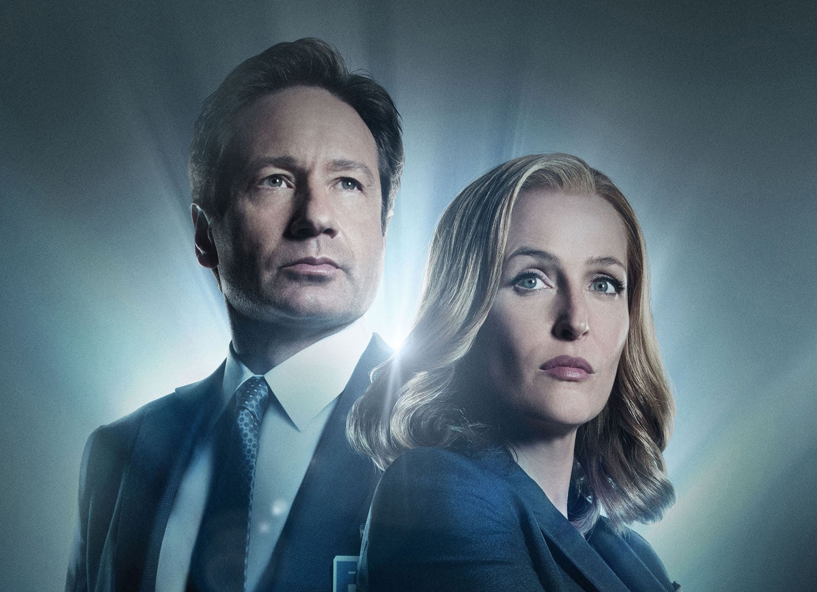 David Duchovny and Gillian Anderson (PA Photo/Channel 5/Fox)
