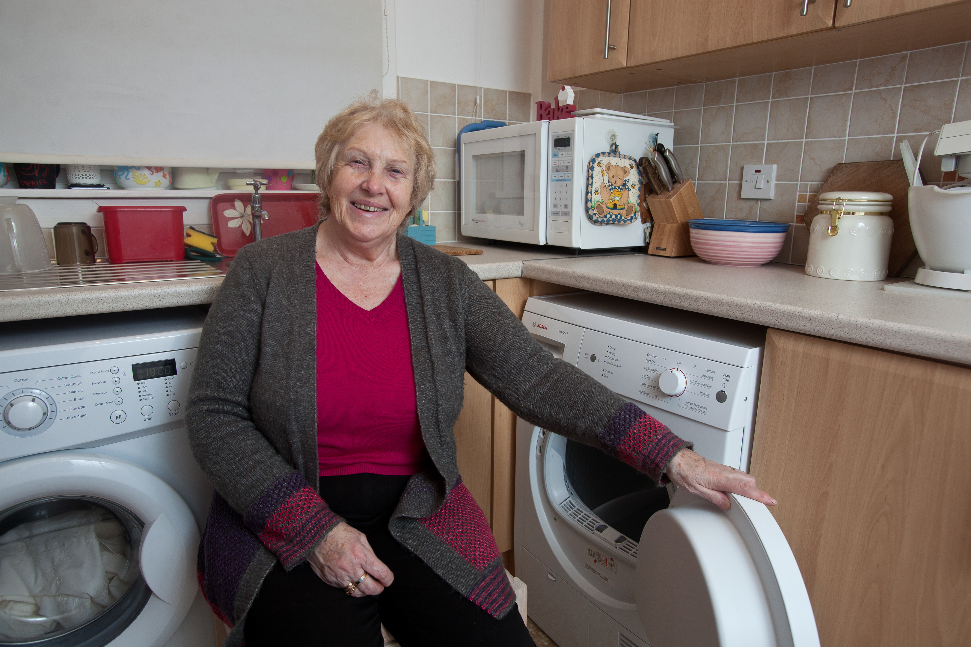 Sandra Collins is delighted with her new tumble dryer. (Tina Norris)