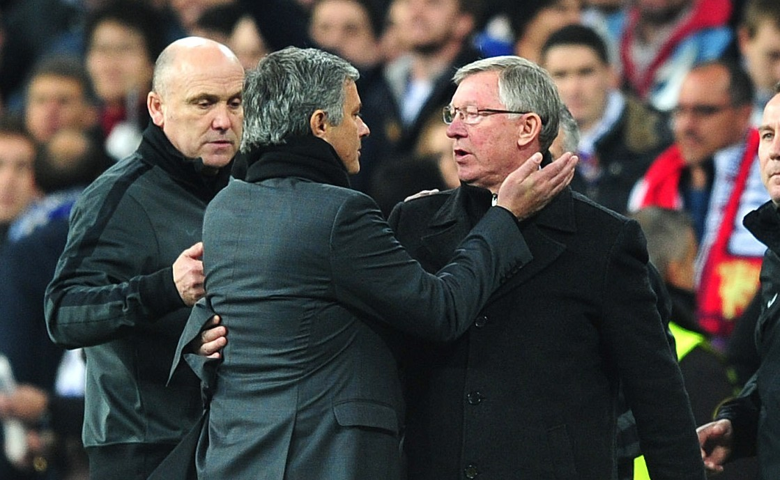 Sir Alex and Jose Mourinho on the touchline (PA Archive)
