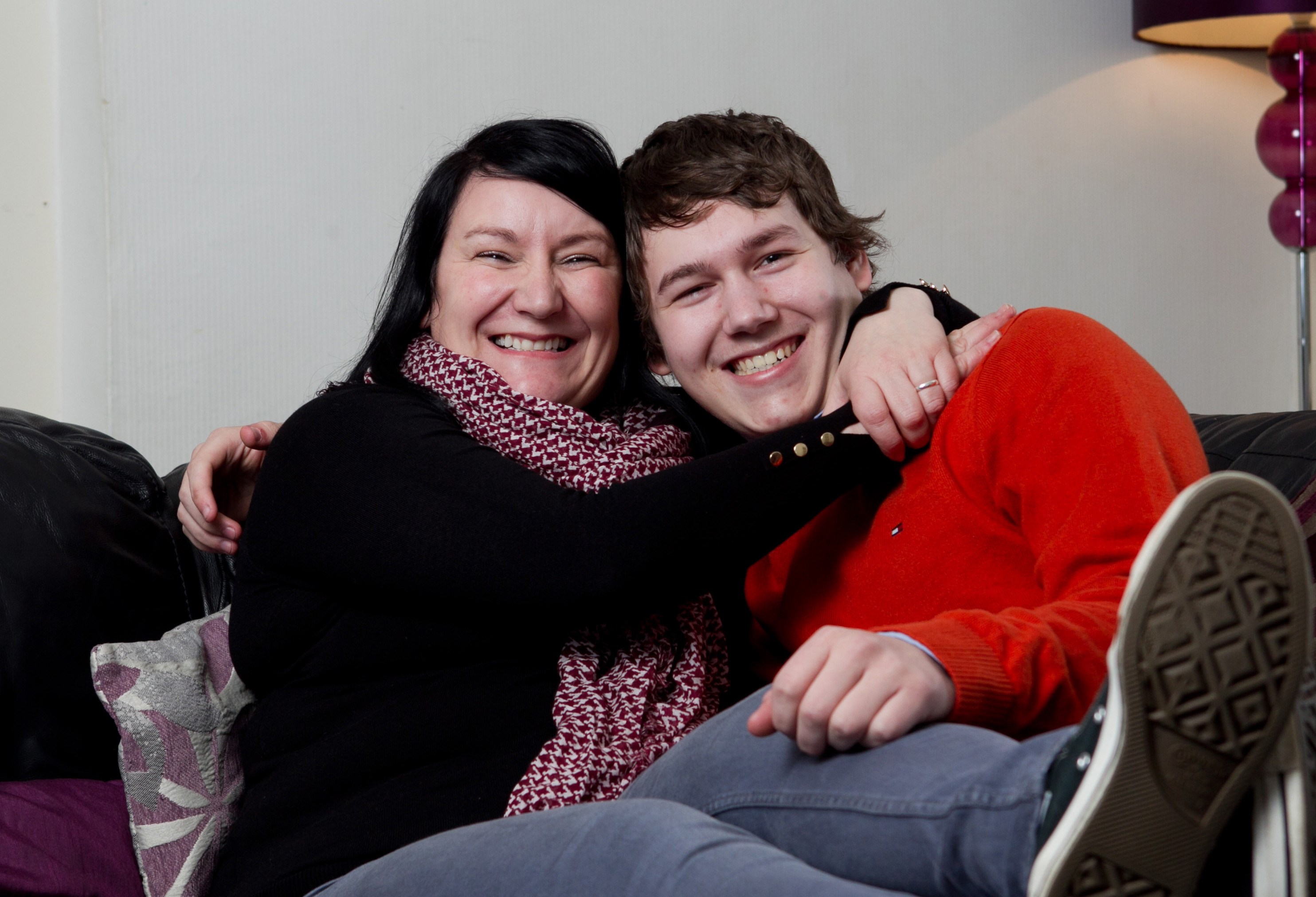 Sara Bell and her son Brandon (Andrew Cawley / DC Thomson)