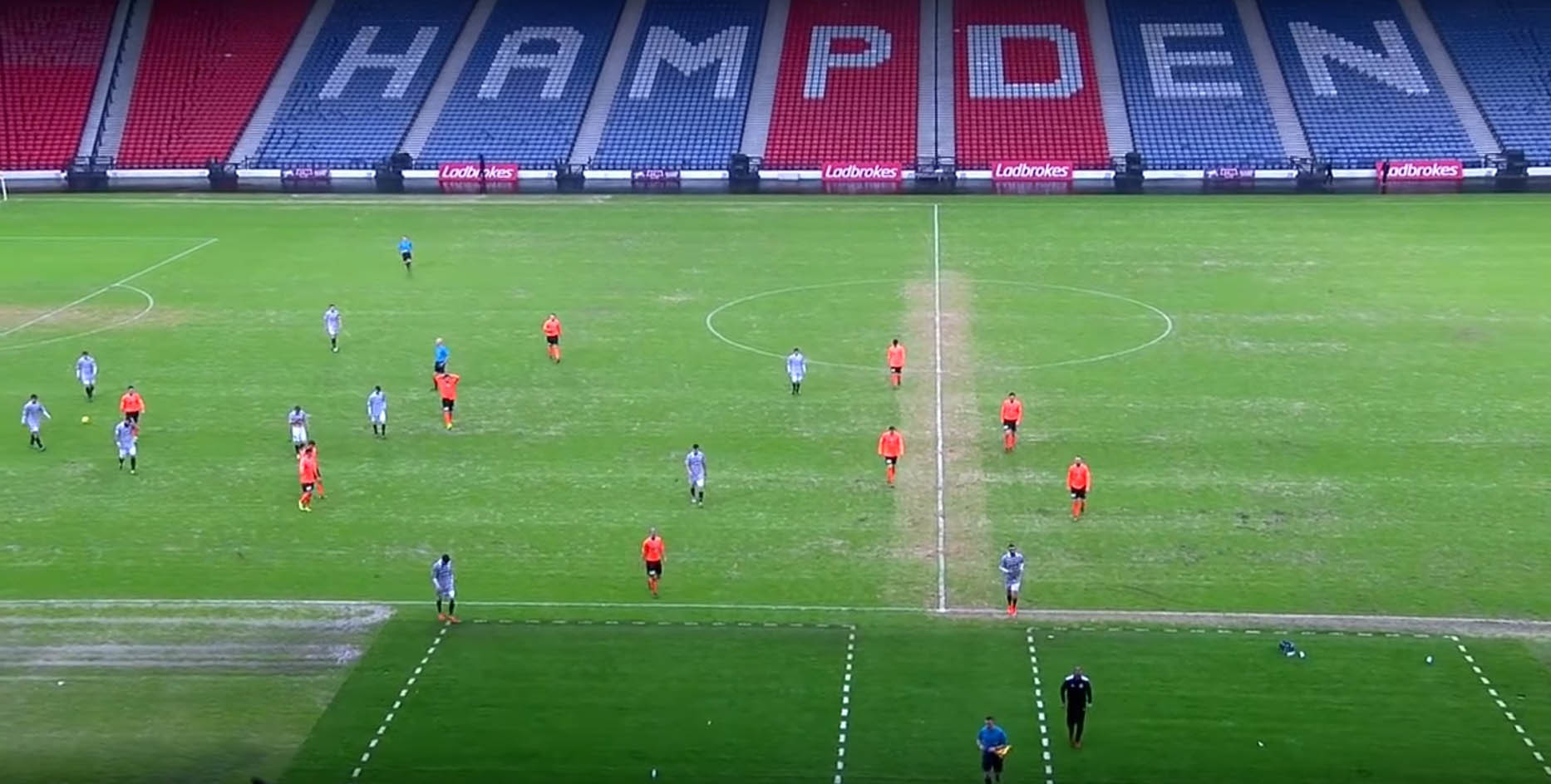 The Hampden surface last Saturday as Queen's Park played East Stirling