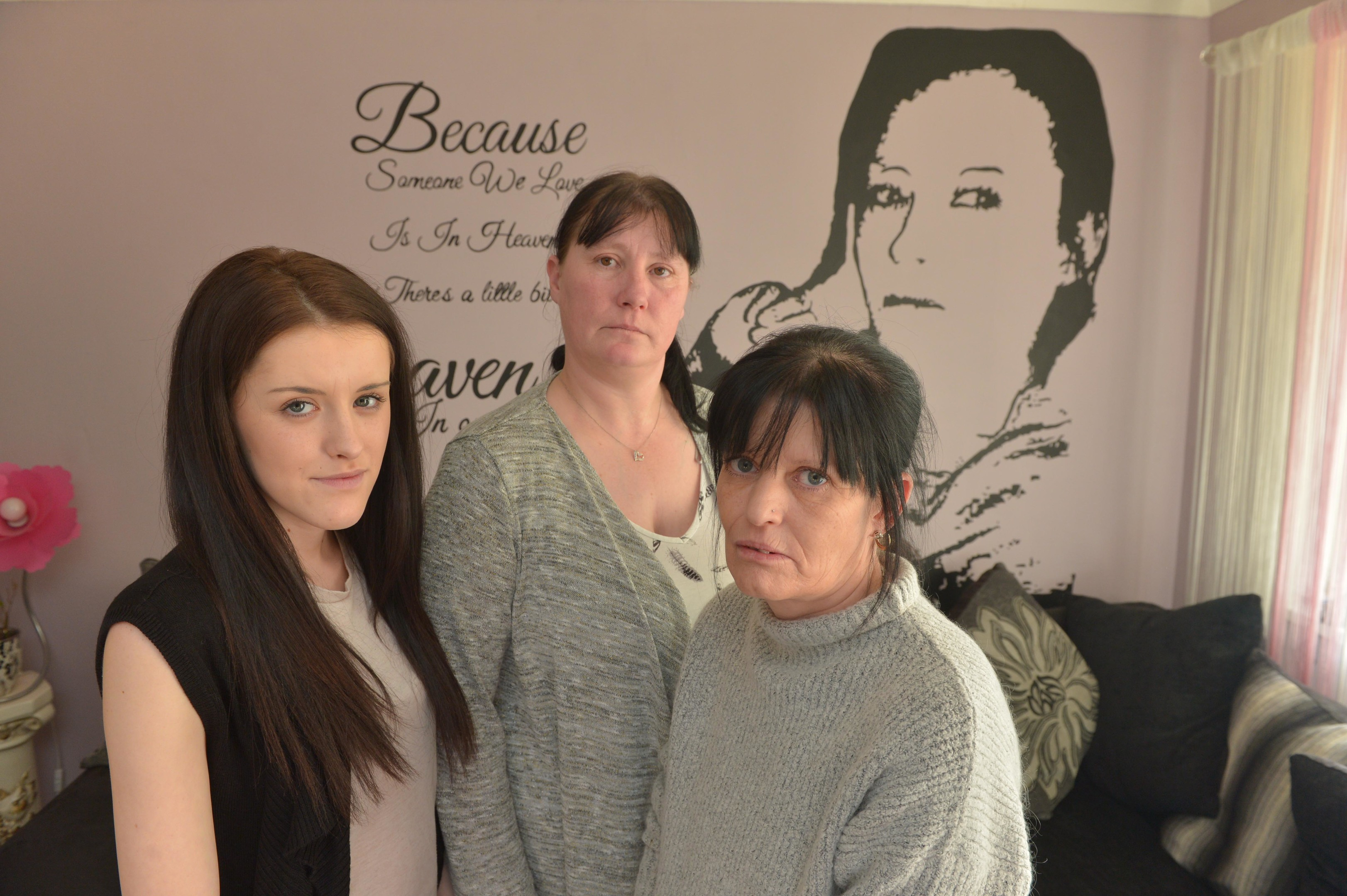 Jenny Finnegan with youngest daughter Kristy (18) and petition organiser Sharon Potter (Paul Vicente)