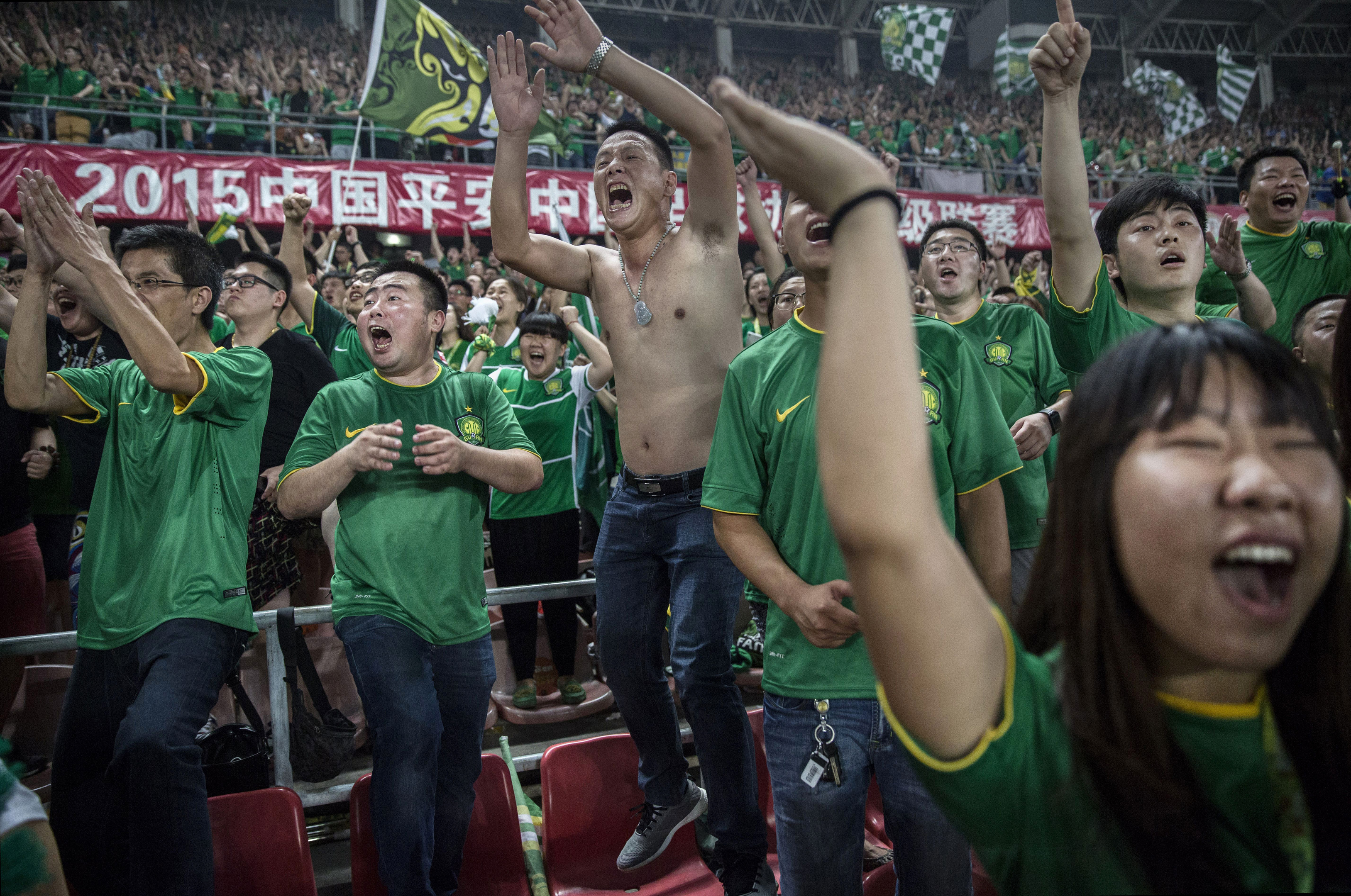 Chinese football fans (Kevin Frayer/Getty Images)