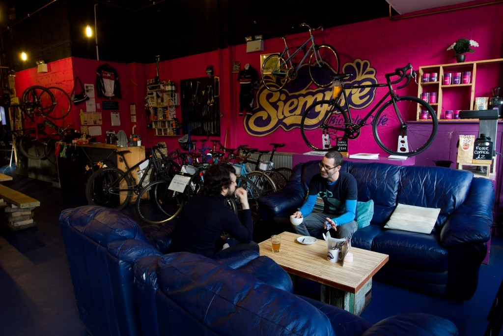 The interior is cycling themed  (Andrew Cawley / DC Thomson)