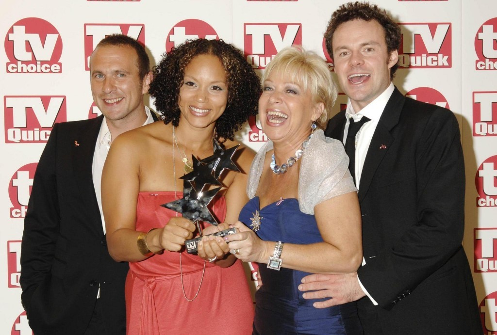 Denise and the cast of Waterloo Road (Yui Mok / PA)