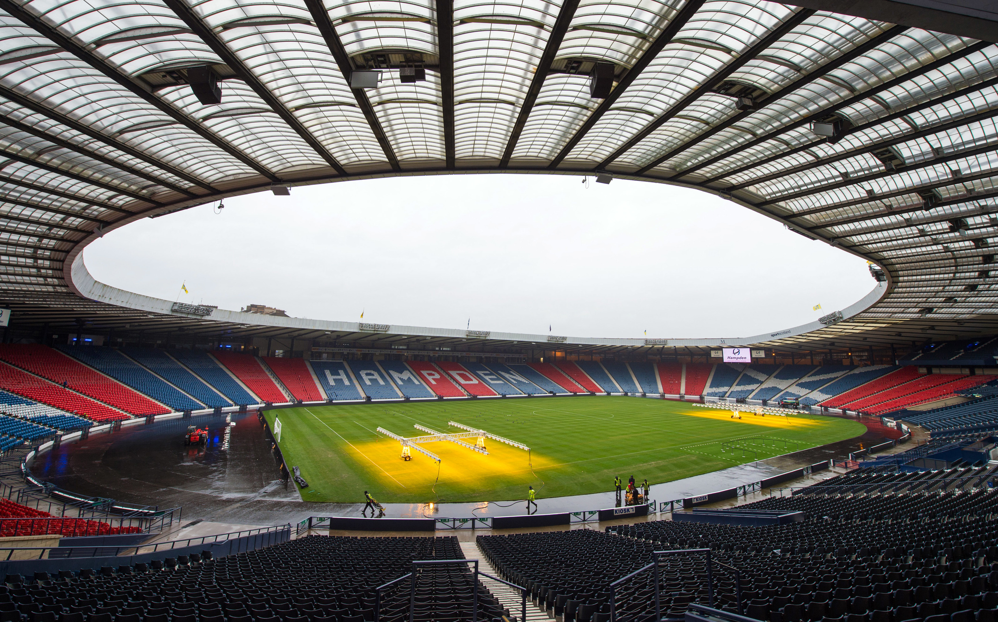 Hampden is to get a new surface laid just like last year (SNS Group)