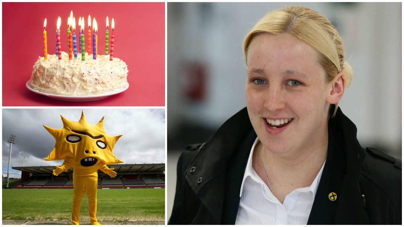 Mhairi Black guests on the Podcast's first birthday (PA & Getty Images)