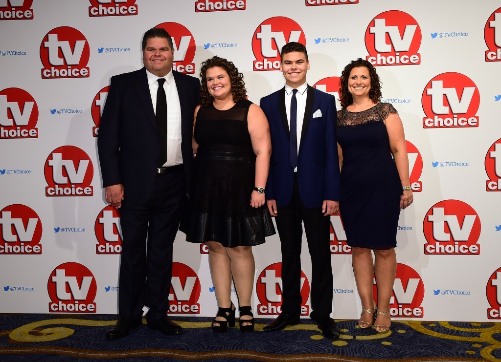 The Tapper Family attending the 2015 TV Choice Awards (Ian West/PA Wire)