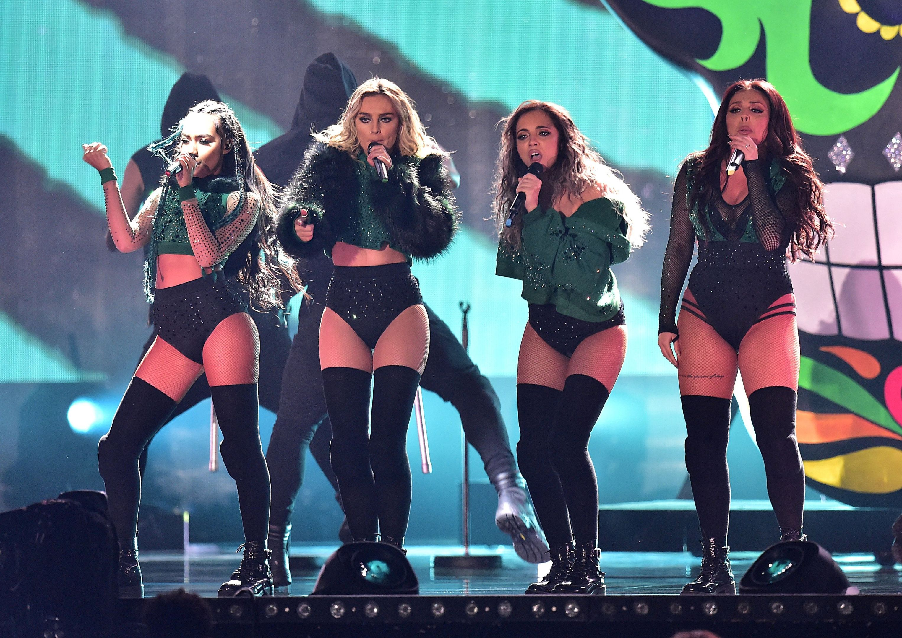 Little Mix performed at the Brit Awards 2016 (Dominic Lipinski)