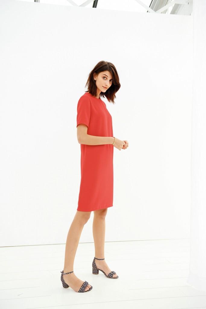 Dress, £29, Sandals £35, La Redoute