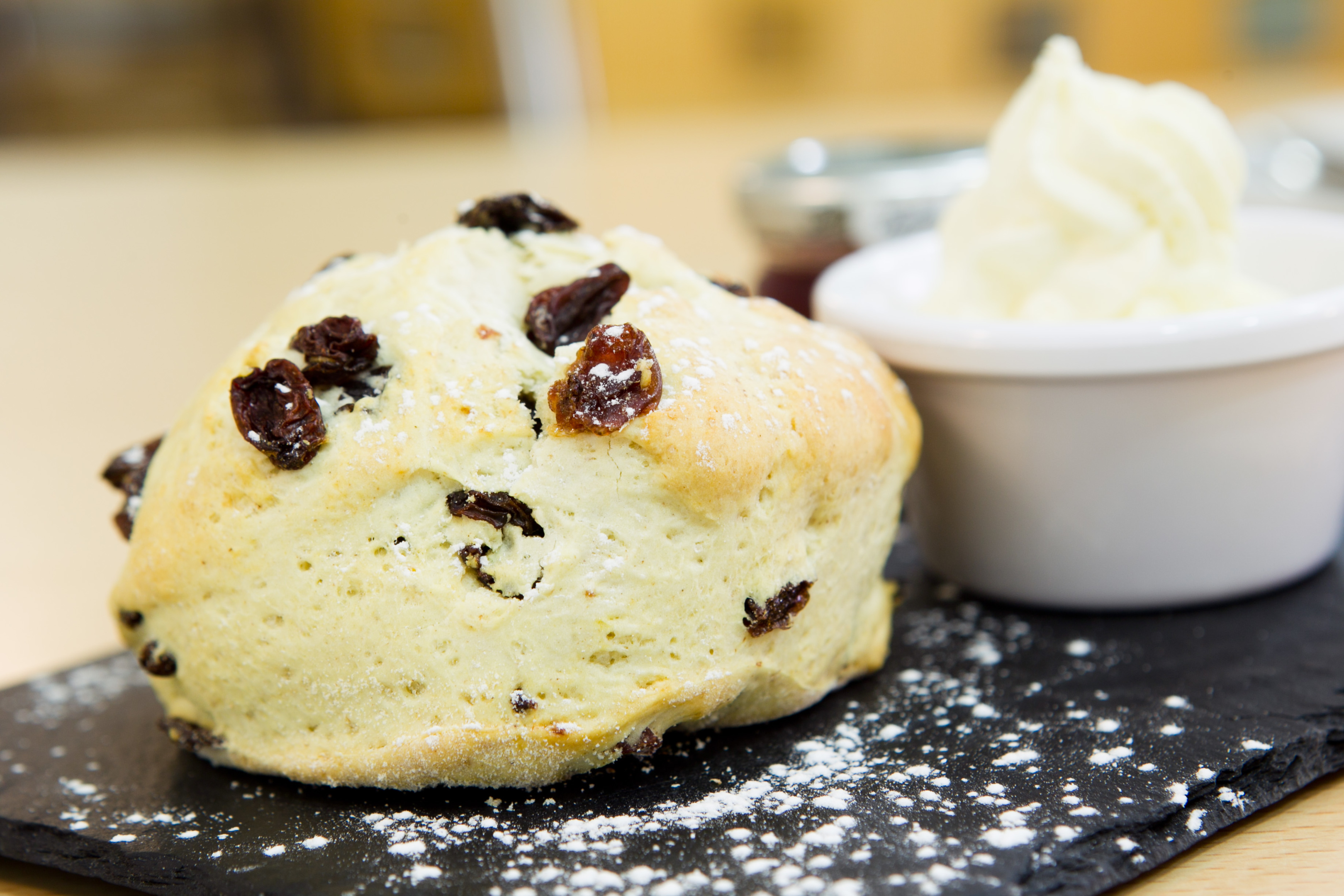 A scone from the Topiary Coffee Shop at Klondyke Garden Centre in Livingston (Andrew Cawley/DC Thomson)
