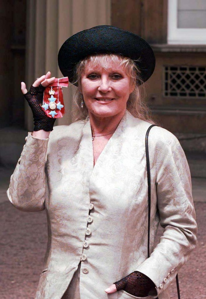 With her CBE gong in 1998 (PA)