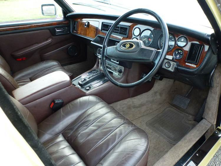 The car interior