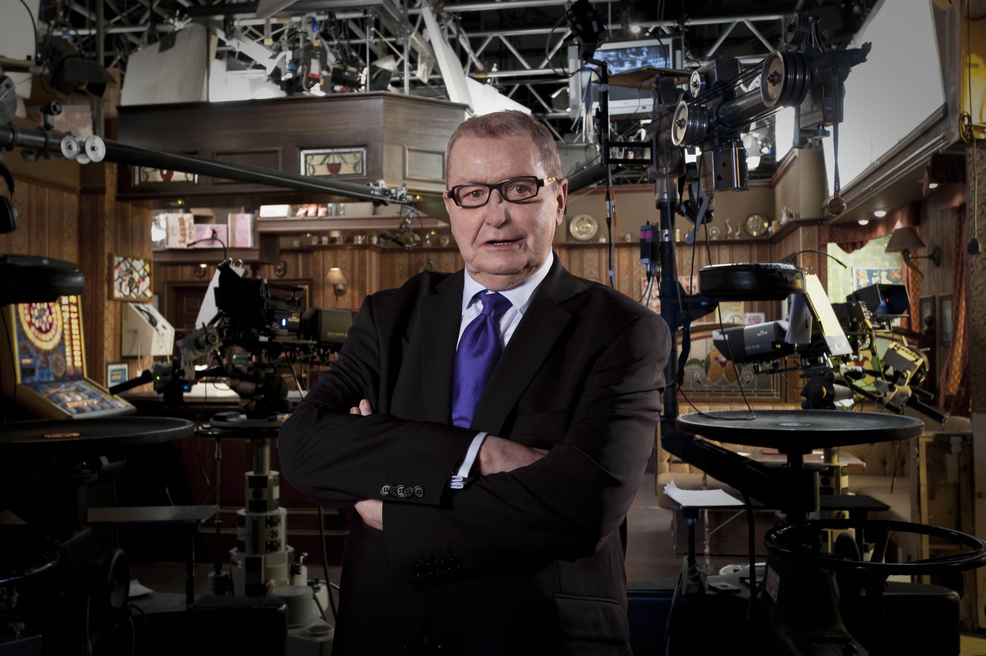 Coronation Street creator and writer Tony Warren on set (ITV/PA Wire)