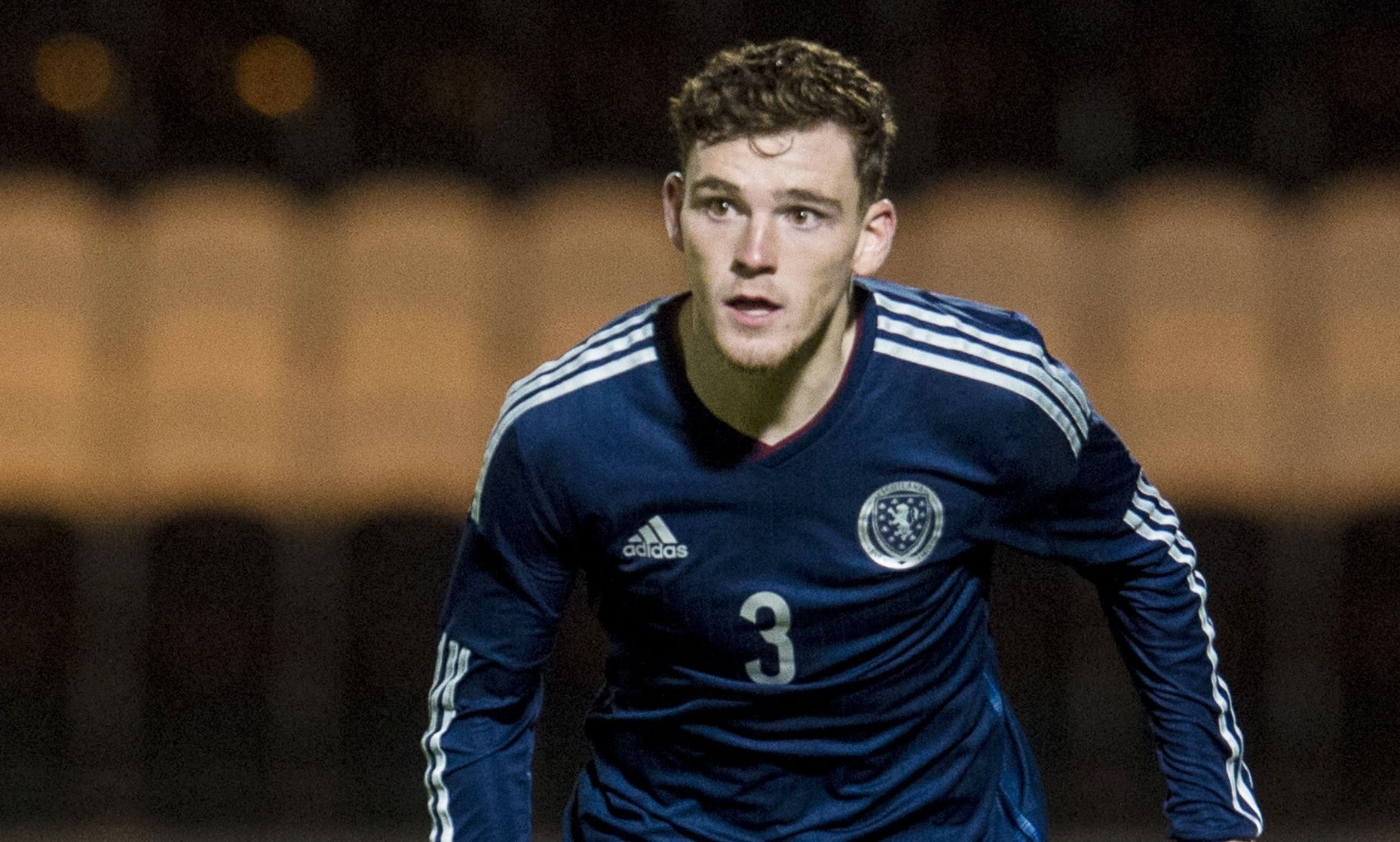Andrew Robertson in action for Scotland (SNS Group)
