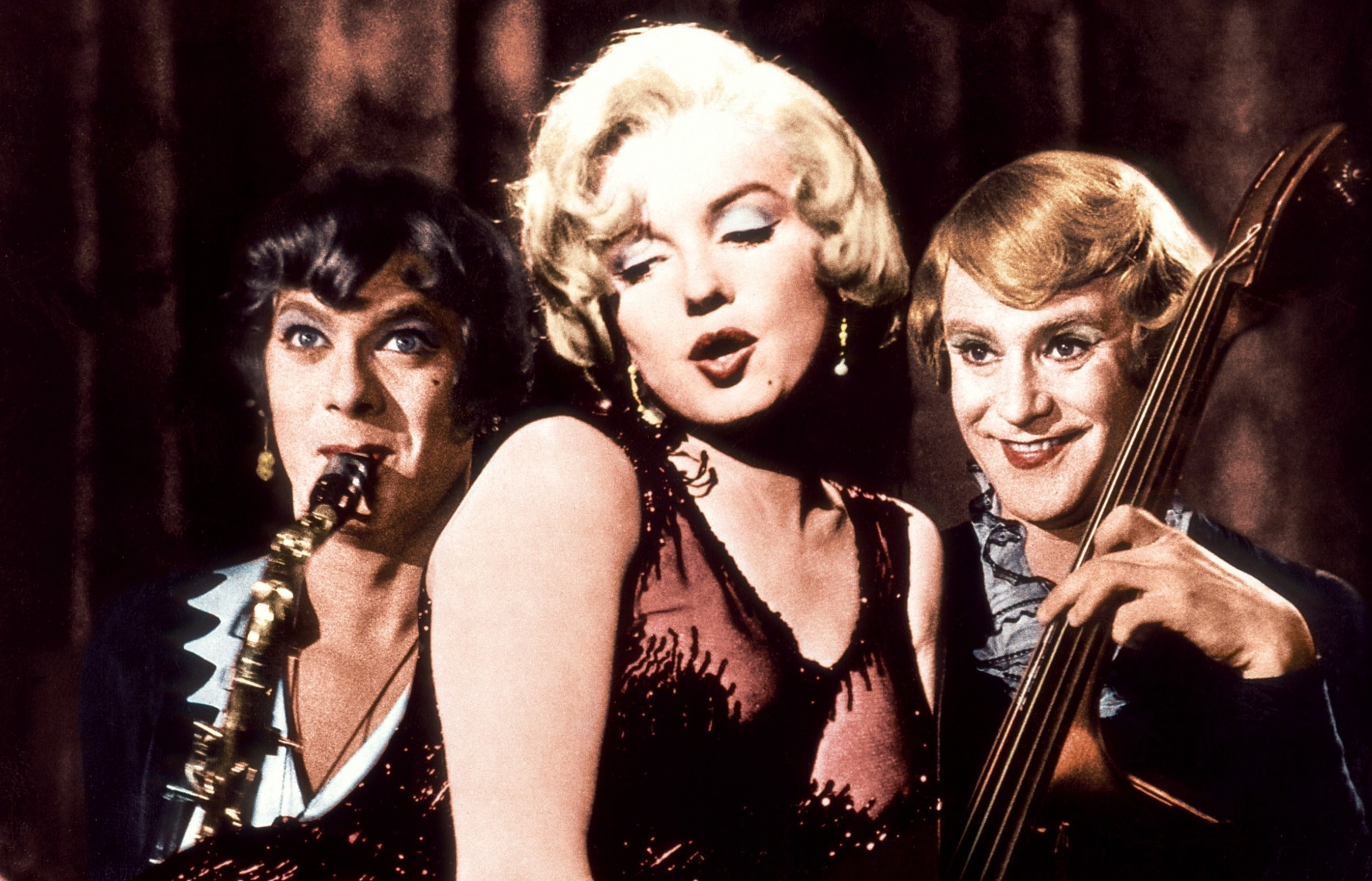 Tony Curtis, Marilyn Monrow and Jack Lemmon in Some Like it Hot (Allstar/UNITED ARTISTS)