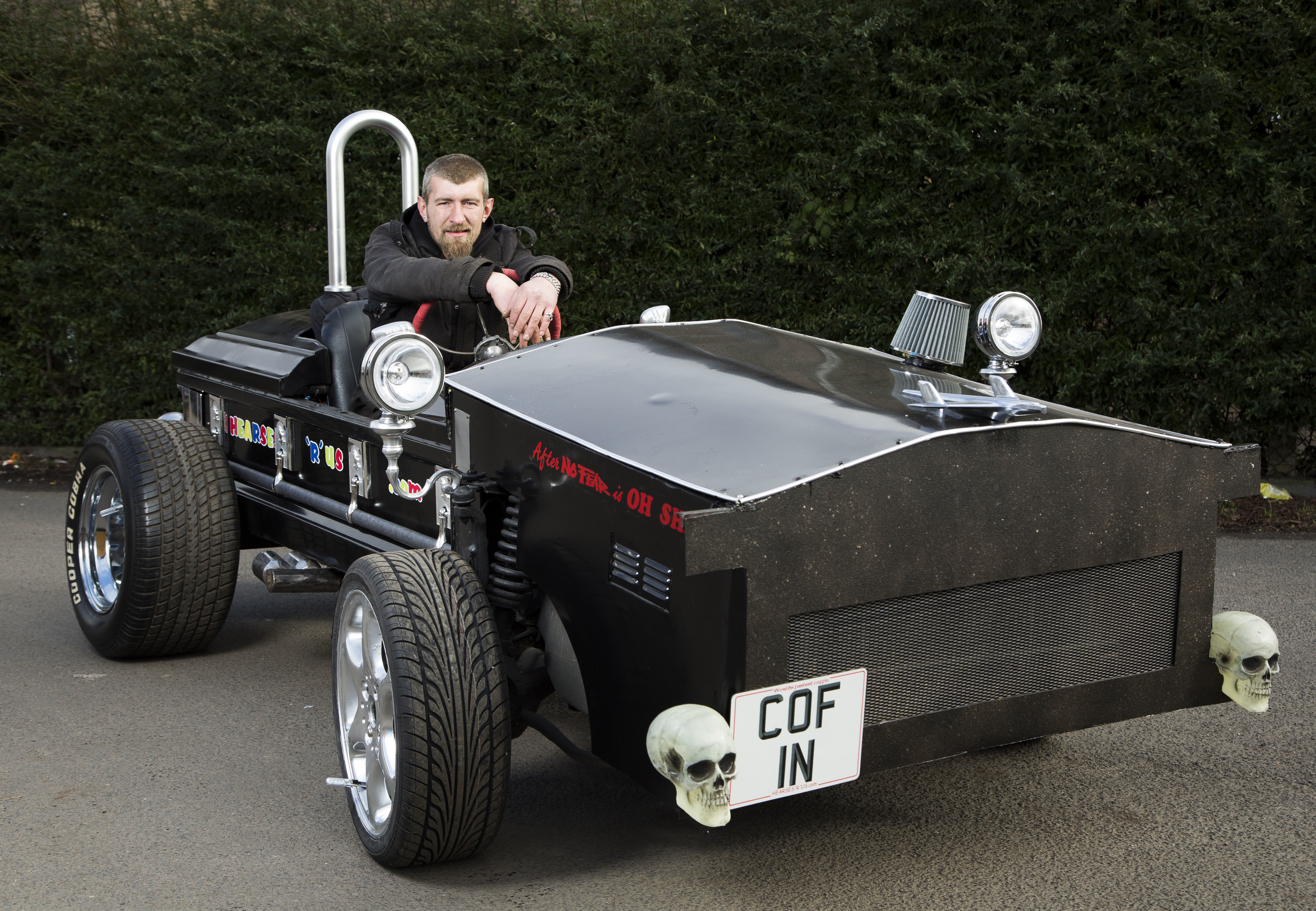 Allan Brant is aiming to break the World speed record for a coffin (James Williamson)