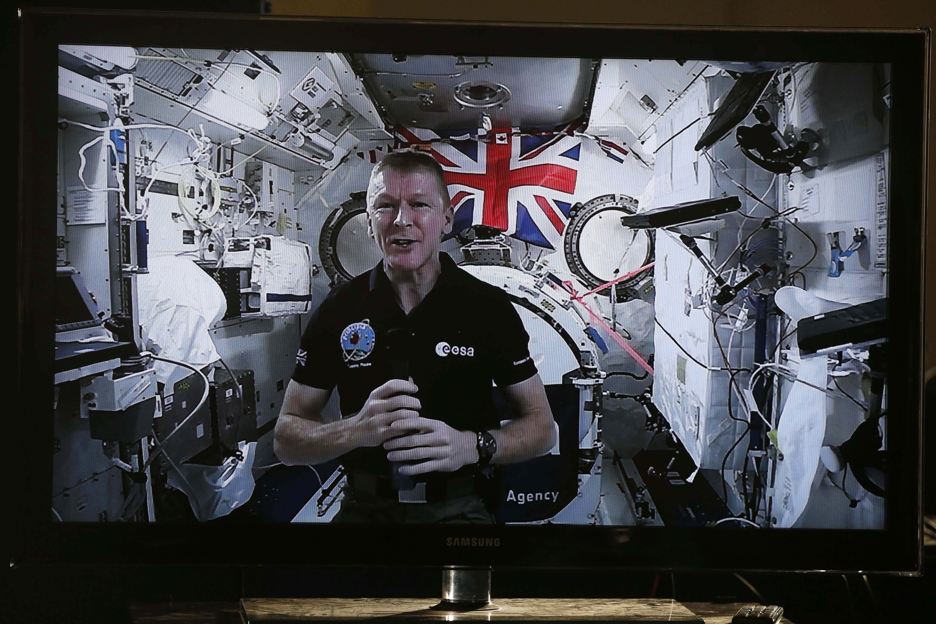 British ESA astronaut Tim Peake on board the International Space Station (PA)