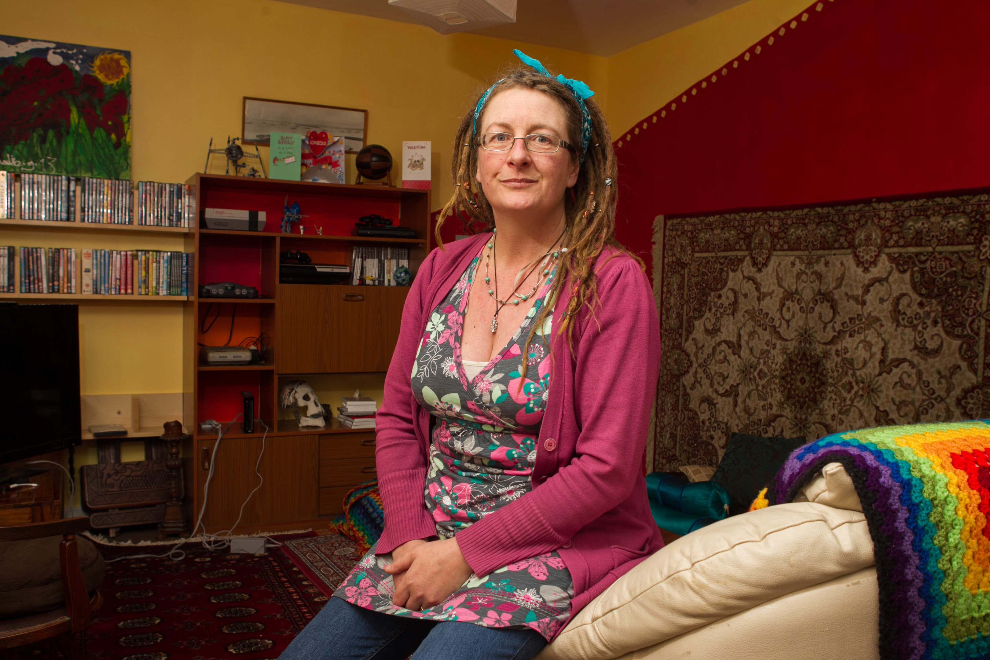 Louise Gourley has given up a luxury lifestle to live in an ex council flat (Chris Austin)
