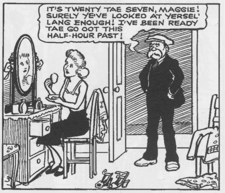 1948 Maggie – Fashion conscious Maggie dolls herself up.