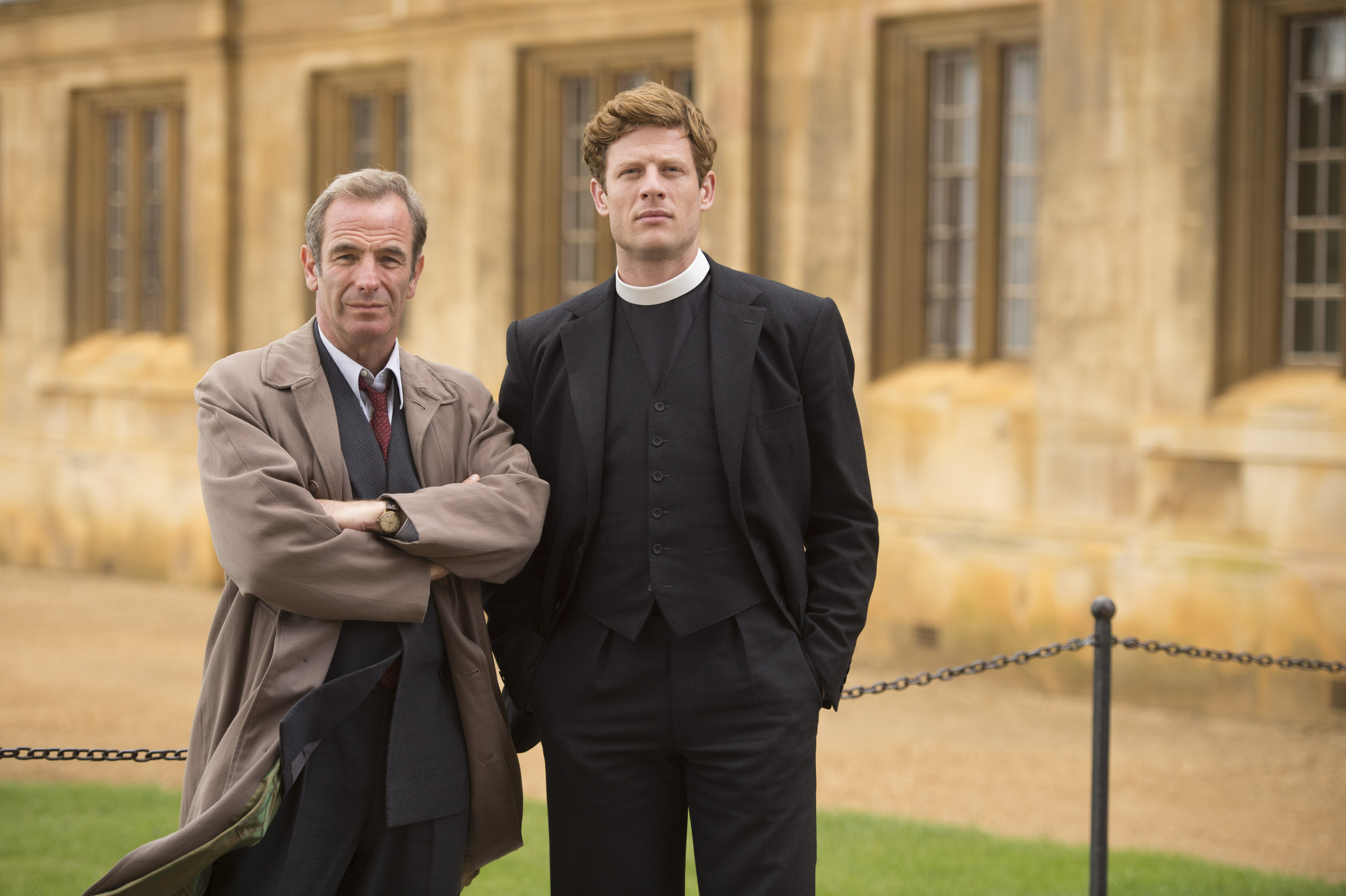 Robson Green as Geordie and James Norton as Sidney (Kudos/ITV)