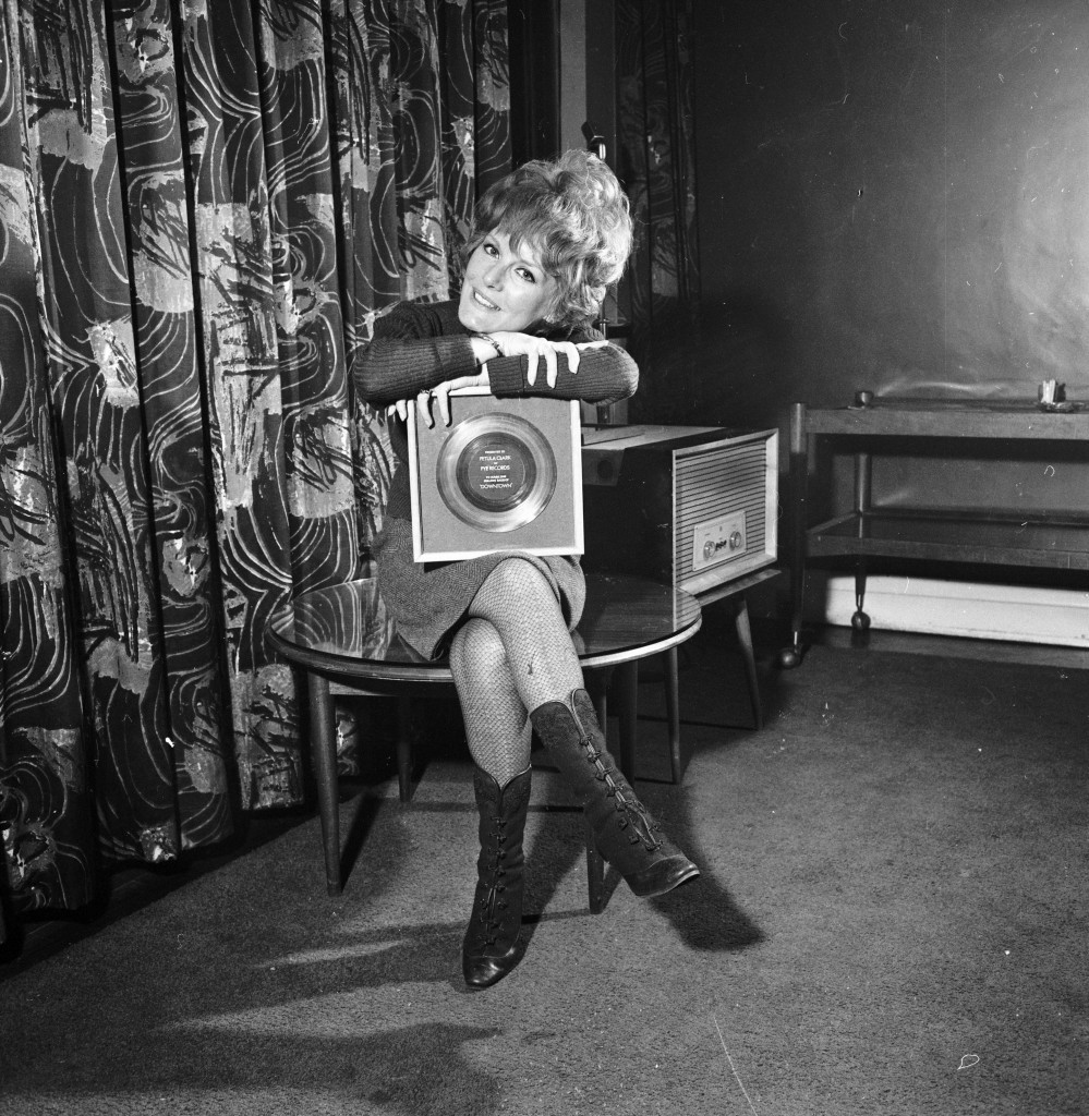 With a gold disc for Downtown in 1965 (Getty Images)