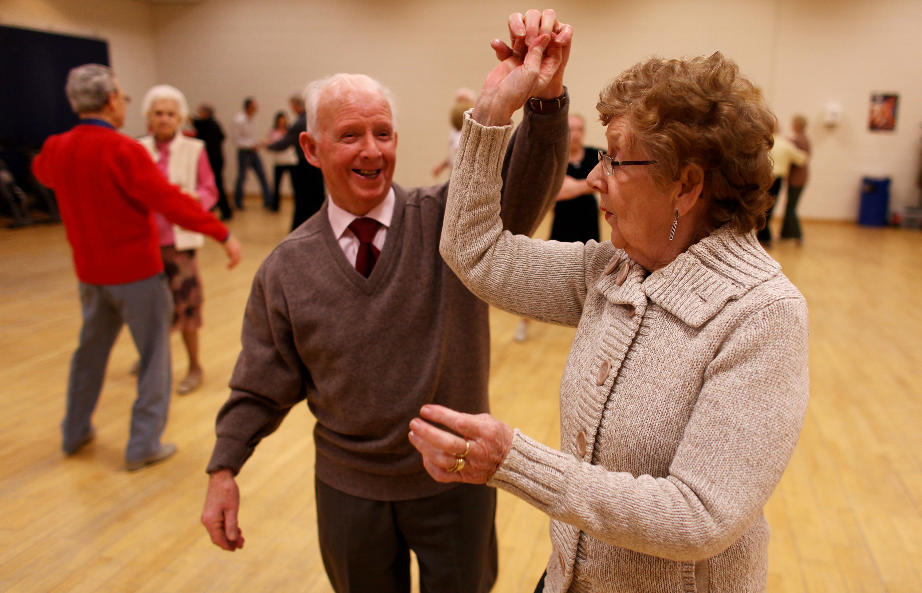Senior citizens enjoy a tea dance at the Glasgow Club in the Gorbals (Jeff J Mitchell/Getty Images)
