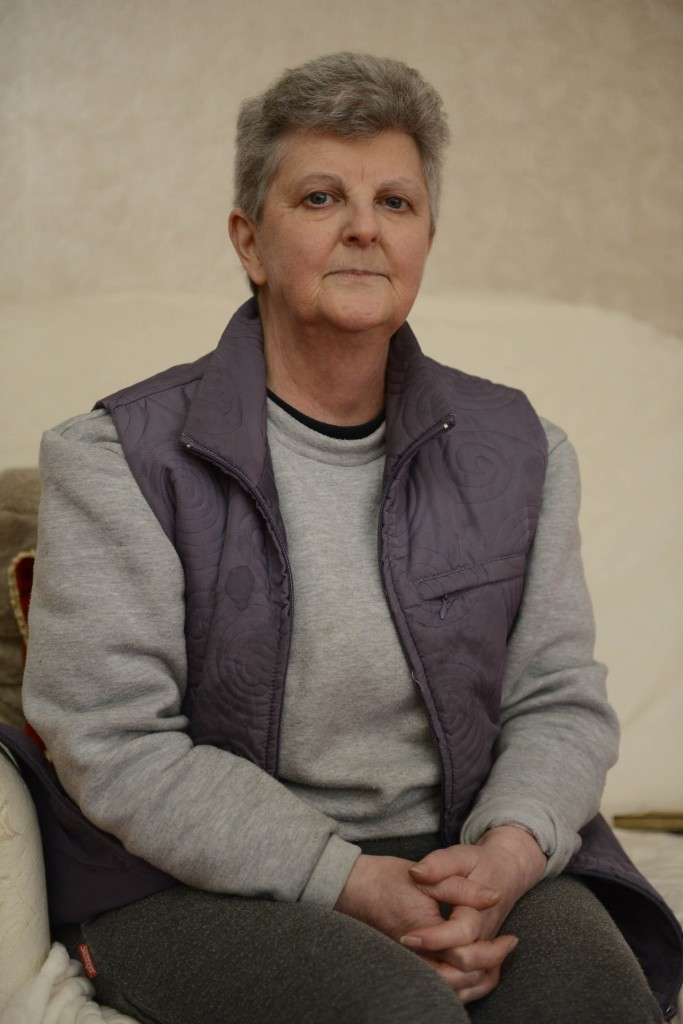 Anne Duffy, 58, whose 90-year-old father Bernard Duffy was twice the victim of a break in at his home in Greenock, Scotland (SWNS)